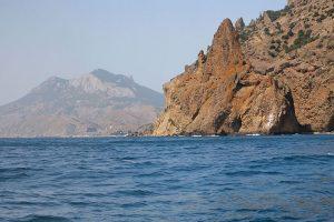 Crimea Hills on the shore of Black Sea near Koktebel