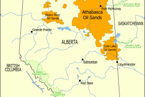 Athabasca Oil Sands map - Tar Sands