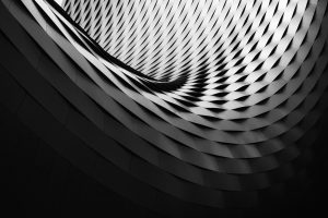 Black and white abstract architectural detail